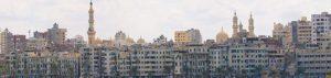 Die Stadt Alexandria in Ägypten