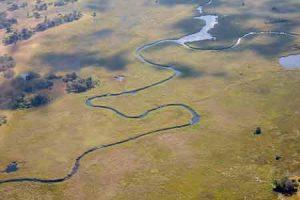 Okavango Delta - Luftaufnahme