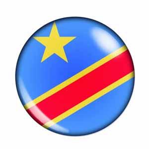 Fahne Demokratische Republik Kongo