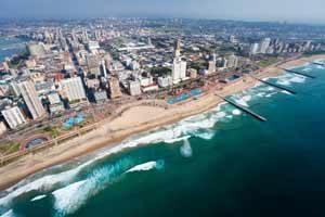 Strandurlaub in einer Großstadt - Durban in Südafrika