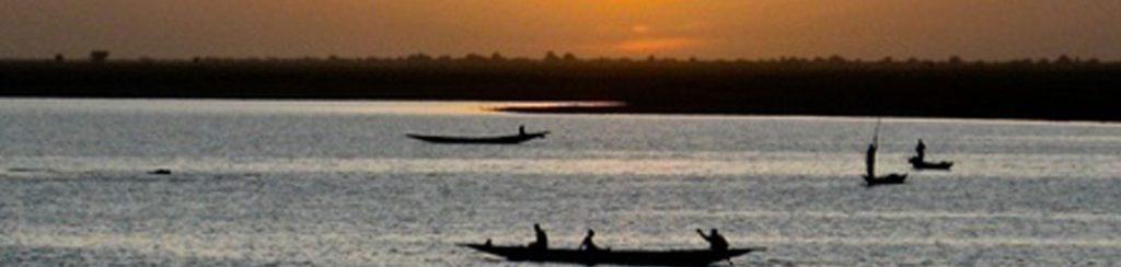 Der Fluss Niger in Westafrika