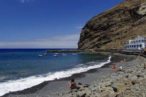 Vulkansandstrand Playa Alojera auf La Gomera