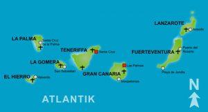 Karte der Kanarischen Inseln