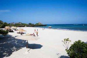 Strand von Chale Island an der Südküste von Kenia
