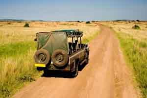 Geländewagen in Kenia - im sicheren Gebiet bleiben