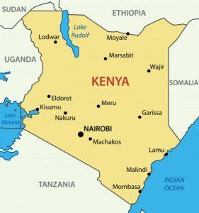 Übersichtliche Karte von Kenia mit Städten