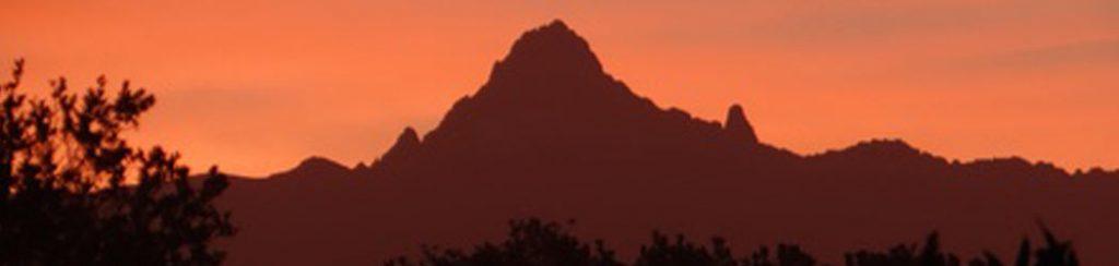 Der höchste Berg in Kenia heißt Mount Kenya