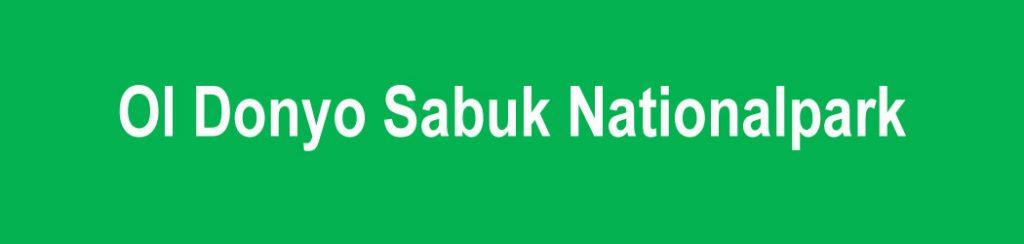 Ol Donyo Sabuk Nationalpark