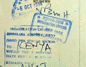 Visum - Einreisestepel für Kenia