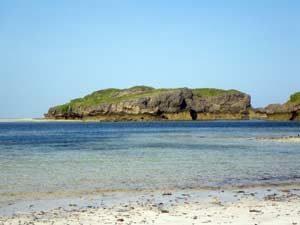 Typische Koralleninsel bei Watamu - Kenia-Urlaub an der Nordküste