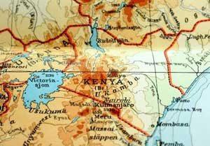Topografische Karte von Kenia