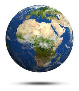 Gut erkennbar: Landschaftszonen in Afrika