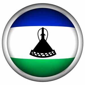 Fahne von Lesotho