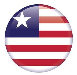 Fahne von Liberia