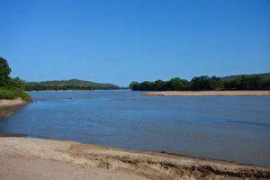 Fluss Limpopo im Süden von Afrika