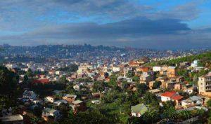 Blick auf die Hauptstadt von Madagaskar: Antananarivo