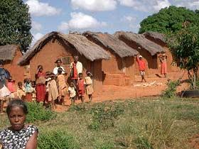 Dorfbevölkerung auf Madagaskar