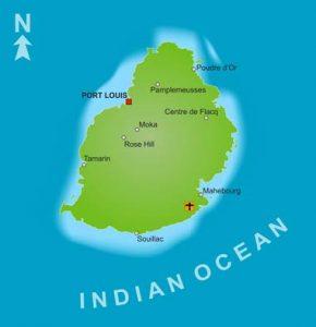 Mauritius: Karte der Hauptinsel