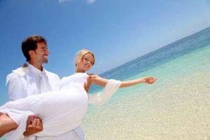 Flitterwochen oder Heiraten auf Mauritius