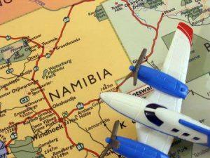 Flug nach Namibia, Südwestafrika