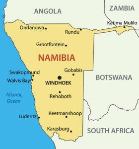 Namibia-Karte: Landkarte von Namibia