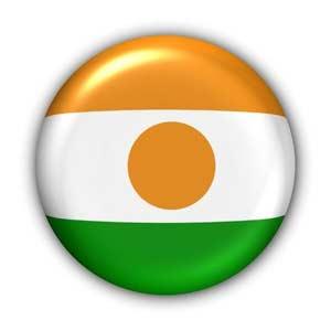 Nationalflagge von Niger