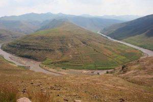 Grenzfluss Oranje im Süden von Afrika
