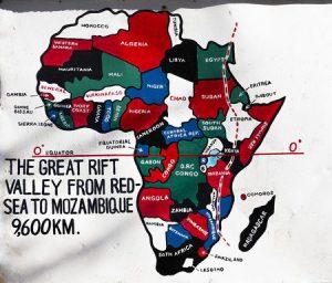 Karte Rift Valley - Lage in Afrika