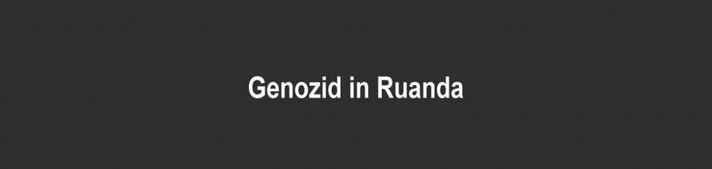 Ruanda: Genozid