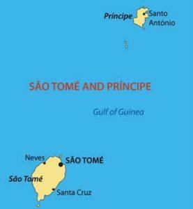 Karte von Sao Tome und Principe