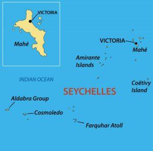 Seychellen - Karte der Inseln