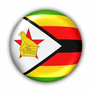 Nationalflagge von Simbabwe