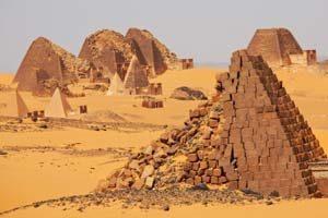 Pyramiden von Meroe im Sudan