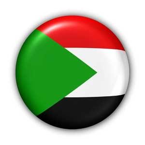 Nationalflagge von Sudan