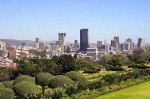 Skyline von Pretoria, Hauptstadt von Südafrika
