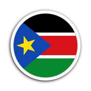 Nationalflagge von Südsudan