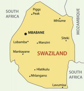 Swasiland-Karte