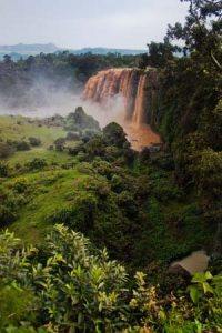 Der Blaue Nil fällt aus dem Tanasee