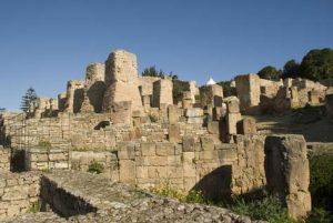 Einige der Ruinen von Karthago in Tunesien