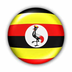 Nationalflagge von Uganda